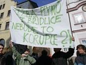 Protest proti těžbě břidlicového plynu na Náchodsku a Trutnovsku. (Náchod, 6.