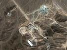 Íránské zařízení na obohacování uranu poblíž města Qom