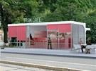 Tram café - návrh přestavby funkcionalistické zastávky na Obilním trhu v Brně.