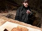 P�i rekonstrukci ji�n�ho k��dla hradu �pilberk archeologov� objevili i kachli