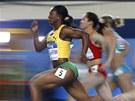 Jamajčanka Campbellová-Brownová v rozběhu hladké šedesátky na halovém MS atletů
