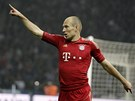Arjen Robben z Bayernu Mnichov slav gl v bundesligovm zpase proti Herth