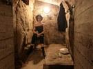 Jedno ze zastavení v jihlavském podzemí - takto to v chodbách vypadalo, když je