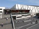 Vizualizace pl�novan� budouc� podoby olomouck�ho zimn�ho stadionu a bl�zk�ho