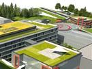 Vizualizace modernizovaného areálu nemocnice v Náchodě