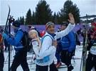 David V�vra na b�eck�m maratonu Birkebeiner s povinnou z�t�� na z�dech