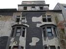 Žalostný  stav módního domu Ostravica-Textilia v centru Ostravy.