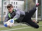 Jan Kotnour na tréninku týmu FC Vysočina Jihlava.