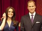 Voskoví vévoda a vévodkyně z Cambridge v muzeu  Madame Tussauds v Londýně