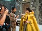 Lily Collinsová a režisér Tarsem Singh  při natáčení filmu Sněhurka