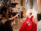Julia Robertsov� p�i nat��en� filmu Sn�hurka
