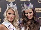 �esk� Miss Tereza Chlebovsk� (uprost�ed), �esk� Miss World Linda Barto�ov�,...