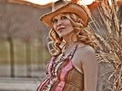Herečka Tereza Bebarová v sedmém měsíci těhotenství.
