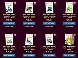 Internetový obchod s elektronickými verzemi knih o Harrym Potterovi