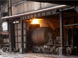 Plnění Veroniky tekutým surovým železem