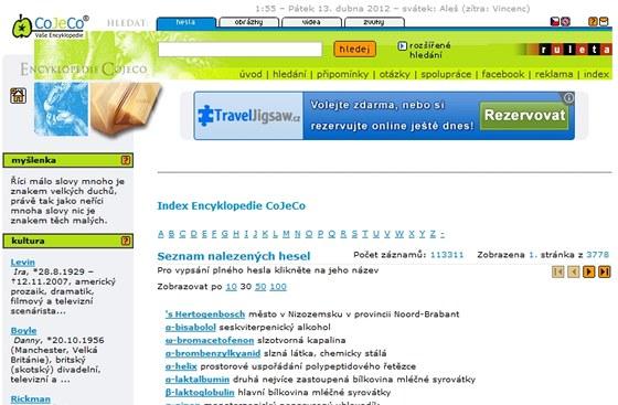 Encyklopedie CoJeCo svíce než 113000 hesly může dobře posloužit i jako