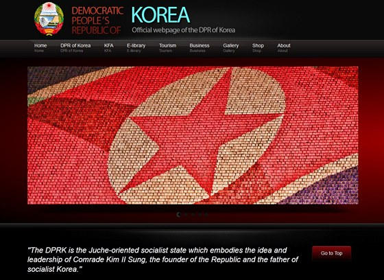 Elegantní úvodní stránka oficiálního webu KLDR