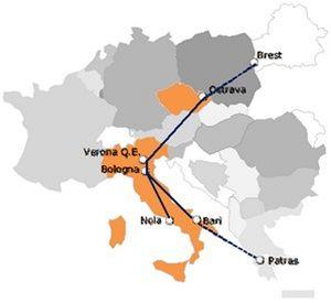 Zboží z Ostravy do Verony za 24 hodin. Přímým vlakem.