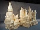 Model hradu z Bradavic podle knih o Harry Potterovi