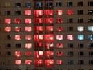 Light show na kolejích VUT v Brně pod Palackého vrchem přilákala tisíce