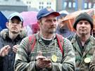 Protestní akce Holešovské výzvy na plzeňském náměstí Republiky (15. dubna 2012).