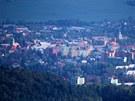 Pohled z Velkého Javorníku na Frenštát pod Radhoštěm.