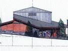 Skica nové stanice lanovky na Sněžce, jihozápadní pohled