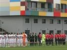 Otevření stadionu Bavlna v Hradci Králové. Dole Vratislav Lokvenc. (10. dubna...