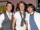 Isaac, Taylor a Zachary Hansonovi (zleva) - Hanson