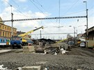 Plzeň, 13. 4. 2012, Oprava železničního koridoru v Plzni, stavba podchodu z...