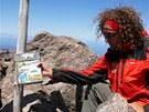 Na vrcholu Monte Cinto najdeme i vrcholovou knížku.