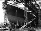 V�stavba Titaniku v doc�ch Belfastu