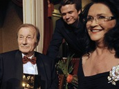 Radoslav Brzobohatý se svou ženou Hanou Gregorovou a synem Ondřejem na TýTý 2011