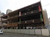 Pohled na olomoucký obchodní dům Prior během probíhající rekonstrukce.