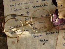 Gándhího brýle, které si pořídil během právnických studií v Anglii