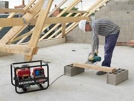 Elektrocentrála se uplatní i na stavbě.