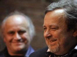 Michael Kocáb (vlevo) a Michal Pavlíček, protagonisté někdejšího rozpadu i