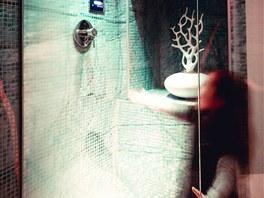 Ve sklepn� relaxa�n� z�n� je i stropn� sprcha s chromoterapi�.