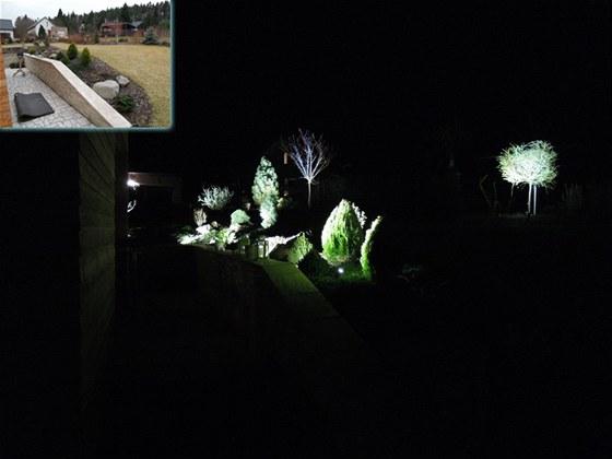 Nechte se očarovat pohledem do zahrady se zahradním osvětlením