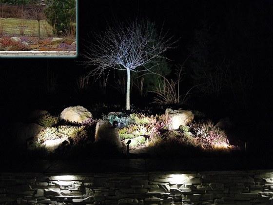 Osvětlení zídky a skalky