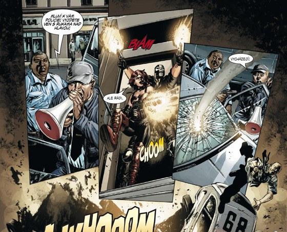 Ukázka z komiksu Captain America omnibus 2