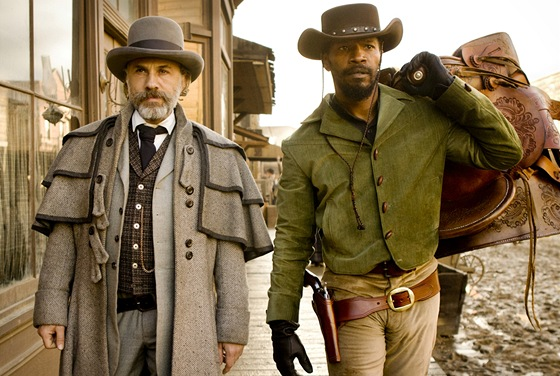 Christoph Waltz a Jamie Foxx ve filmu Nespoutaný Django
