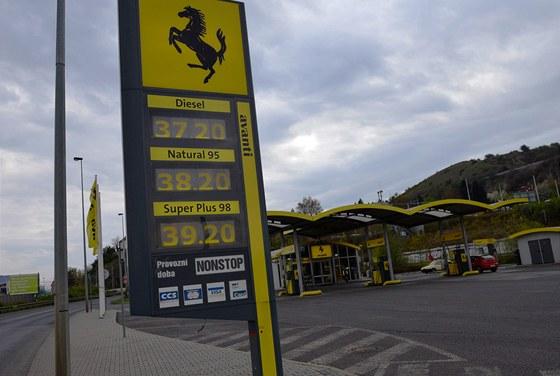 Ceny benzinu, ilustrační foto. (20. dubna 2012, Praha)