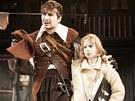 Z inscenace Divadla v Dlouhé Tři mušketýři (Marek Němec jako D'Artagnan s