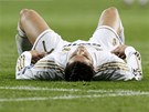 JDE SE NA PRODLOU�EN�. Cristiano Ronaldo z Realu Madrid po devades�ti minut�ch