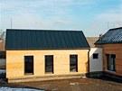 D�evostavby Vesper Homes maj� obvodov� st�ny  oblo�eny 12,5 mm s�drovl�knit�mi