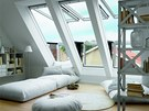 Nové typy střešních oken umožňují skvělý výhled.