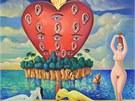 Obraz malíře Milana Kunce Vidím, slyším, hořím z roku 1999.