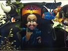 Obraz malíře Libora Vojkůvky nazvaný Jonáš.