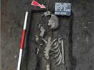 Hrob z 12. století objevený při archeologických vykopávkách na olomouckém